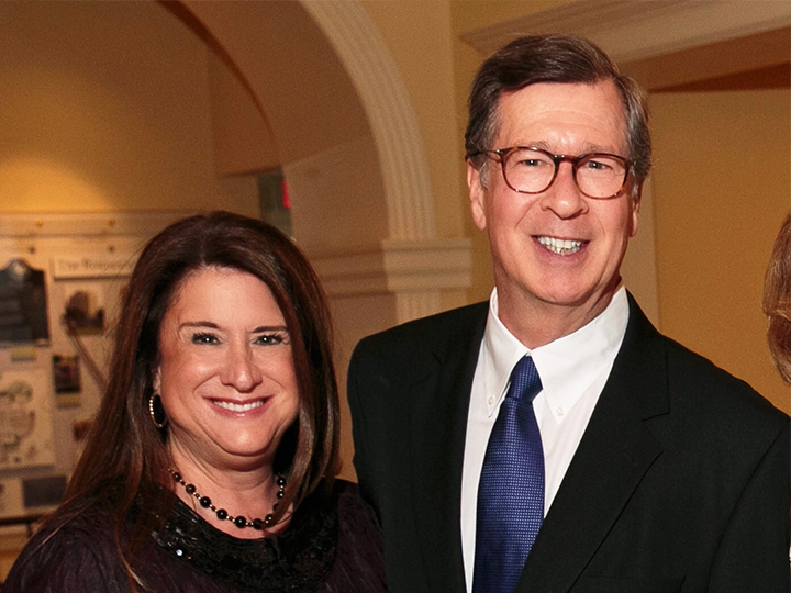 photo of Deborah M. Colton and William M. Colton at a gala