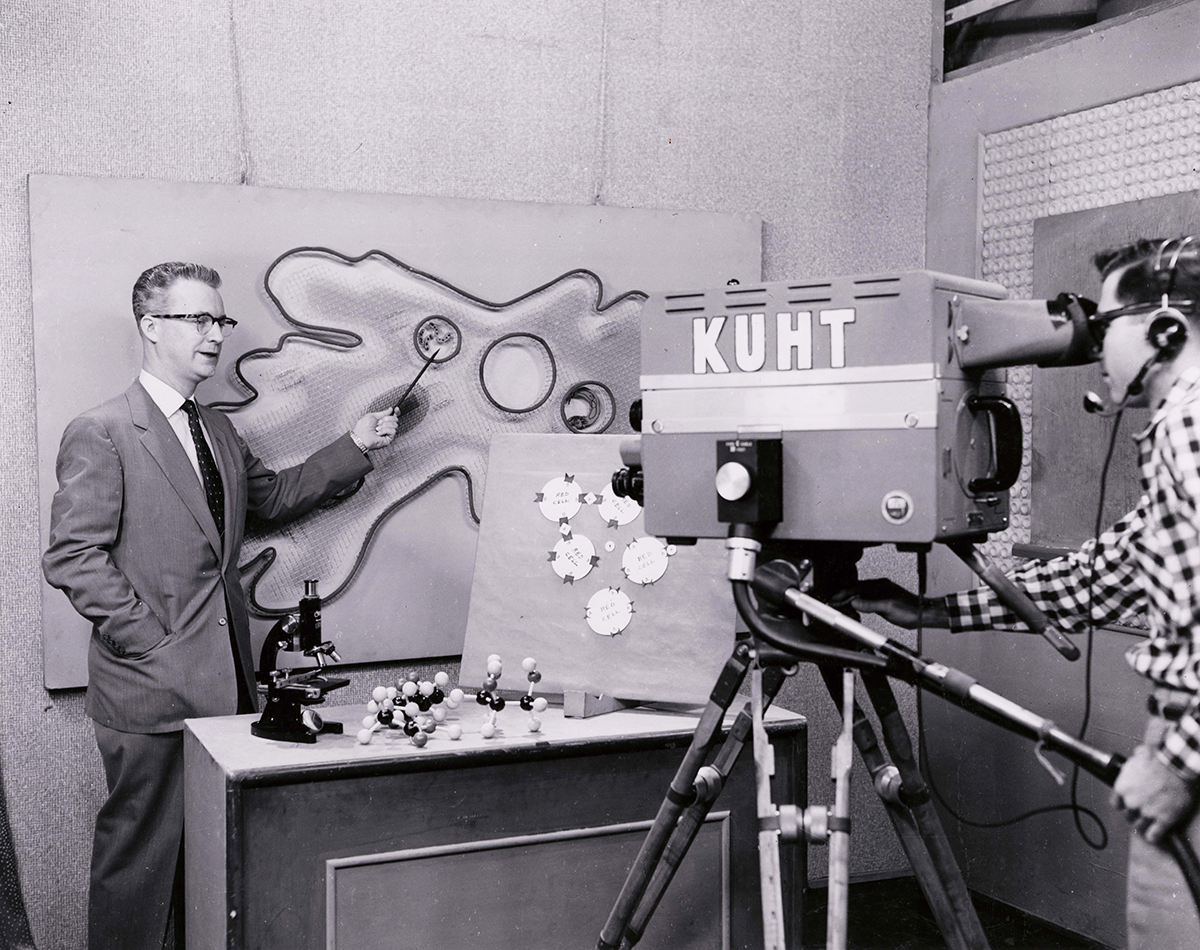 vintage photo of KUHT Studio