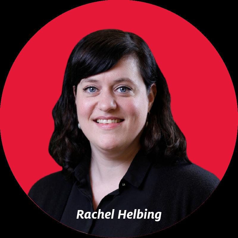 headshot of librarian Rachel Helbing