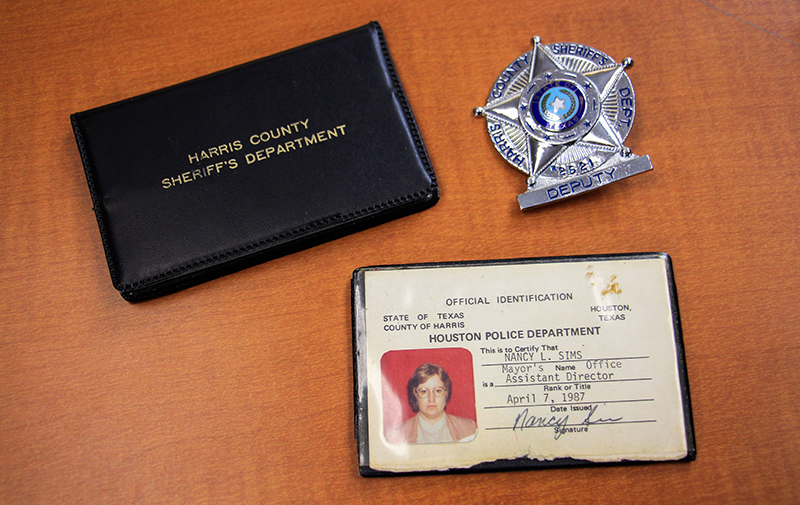 photos of Nancy Sims badge and ID from U.H. Police Department