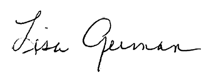 Signature of Dean Lisa German