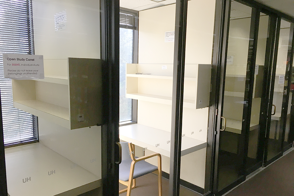 image of the brown wing study carrels
