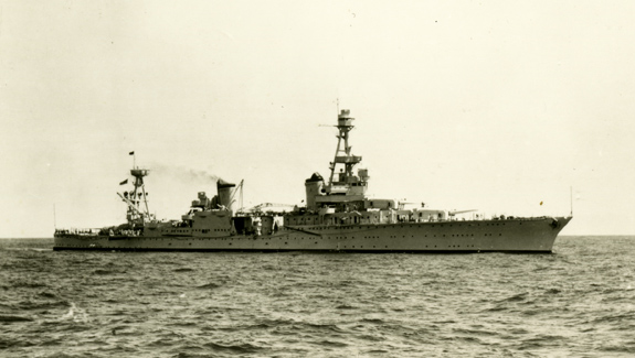 USS Houston (CA-30) at sea