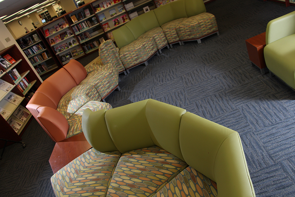 image of leisure reading room couch