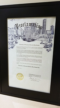 Mayor Sylvester Turner has proclaimed April 18, 2018 as University of Houston Libraries Rare Books Day.