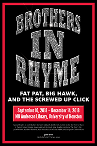 A Houston hip hop exhibit opens September 10 at UH Libraries.