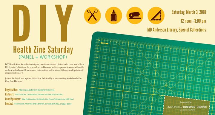 DIY Health Zine Saturday Panel + Workshop