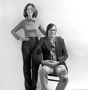 Patricia and Lucas Johnson, 1979. The portrait was captured by photographer Janice Rubin.