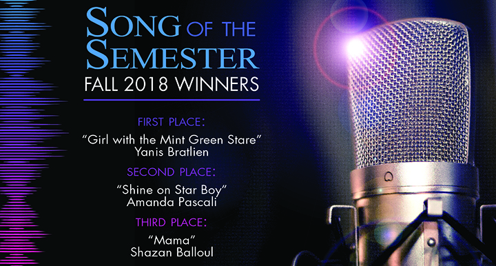 Song of the Semester Fall 2018 Winners