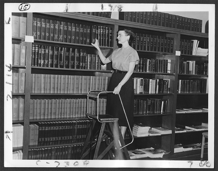 Petro-Tex Chemical Corporation Librarian Leona Drouet, 1955