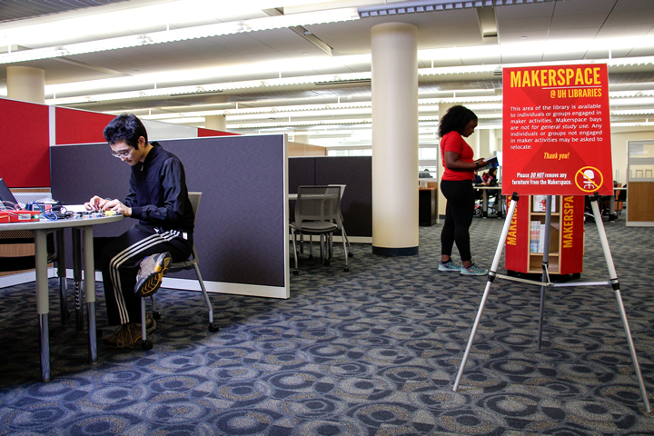 A new Makerspace at UH Libraries is now open for all UH students.