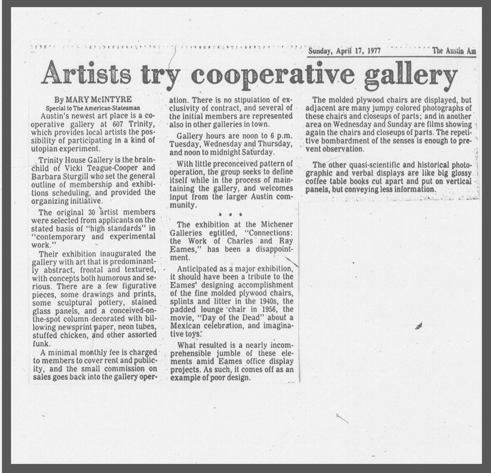 """Artists try cooperative gallery"" 