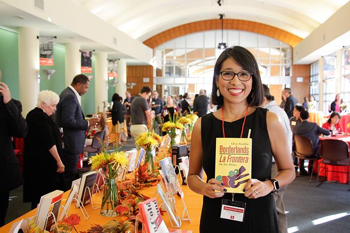 Elizabeth Farfán-Santos, PhD, at the UH Promotion and Tenure Recognition Reception