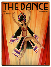 Artwork from the cover of The Dance Magazine of Stage and Screen, Vol. 16, No. 1 (May 1931). Cover Design by W. Stuart Leech.